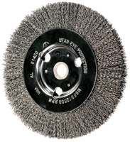 Crimped Wheel Brushes - Bench Wheels - Medium Face (Adapter Style) - Economy Line