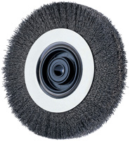 Crimped Wheel Brushes - Ezmount™ Bench Wheels