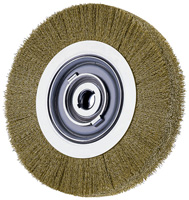 Crimped Wheel Brushes - Medium Face - Brass Wire