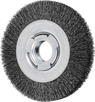 Crimped Wheel Brushes - Medium Face - Carbon Steel Wire