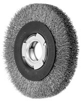 Crimped Wheel Brushes - Medium Face - Stainless Steel Wire