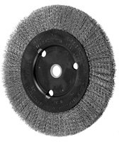 Crimped Wheel Brushes - Narrow Face - Stainless Steel Wire - 3