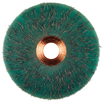 Crimped Wheel Brushes - Small Diameter Copper Center - ECAP® Encapsulated, Carbon Steel Wire