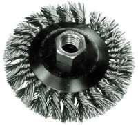 Knot Bevel Brushes - Stainless Steel Wire