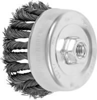Knot Cup Brushes - External Nut, Single Row - COMBITWIST® - Carbon Steel Wire