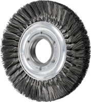 Knot Wheel Brushes - Heavy Duty Standard Twist - Double Row, Long Flag
