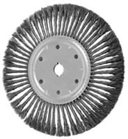 Knot Wheel Brushes - Standard Twist - Single Row, Standard Flag - Carbon Steel Wire - 10