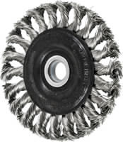 Knot Wheel Brushes - Standard Twist - Single Row, Standard Flag - Stainless Steel Wire