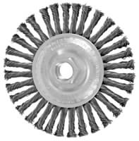 Knot Wheel Brushes - Stringer Bead Twist - Carbon Steel Wire