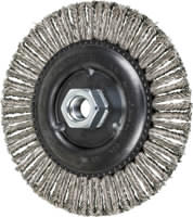 Knot Wheel Brushes - Stringer Bead Twist - COMBITWIST® - Stainless Steel Wire