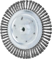 Knot Wheel Brushes - TWIN-NUT, Stringer Bead Twist - Carbon Steel Wire