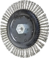 Knot Wheel Brushes - TWIN-NUT, Stringer Bead Twist - Stainless Steel Wire