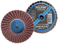 POLIFAN® Mini Quick Change Flap Discs - Aluminum Oxide A - Type CD