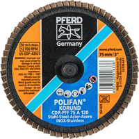 POLIFAN® Mini Quick Change Flap Discs - Aluminum Oxide A - Type CDR