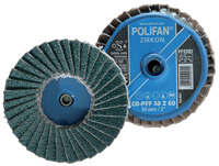 POLIFAN® Mini Quick Change Flap Discs - Zirconia Aluminia Z - Type CD