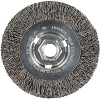 Threaded Wheel Brushes - High-Speed Crimped Wheel Brushes