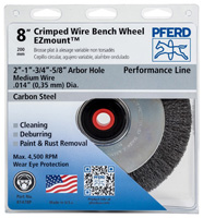 Unthreaded Wheel Brushes - Crimped Wheels - Ezmount™ Bench Wheels